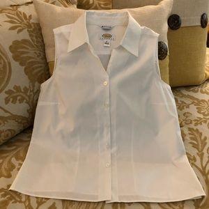 Talbots wrinkle free sleeveless blouse